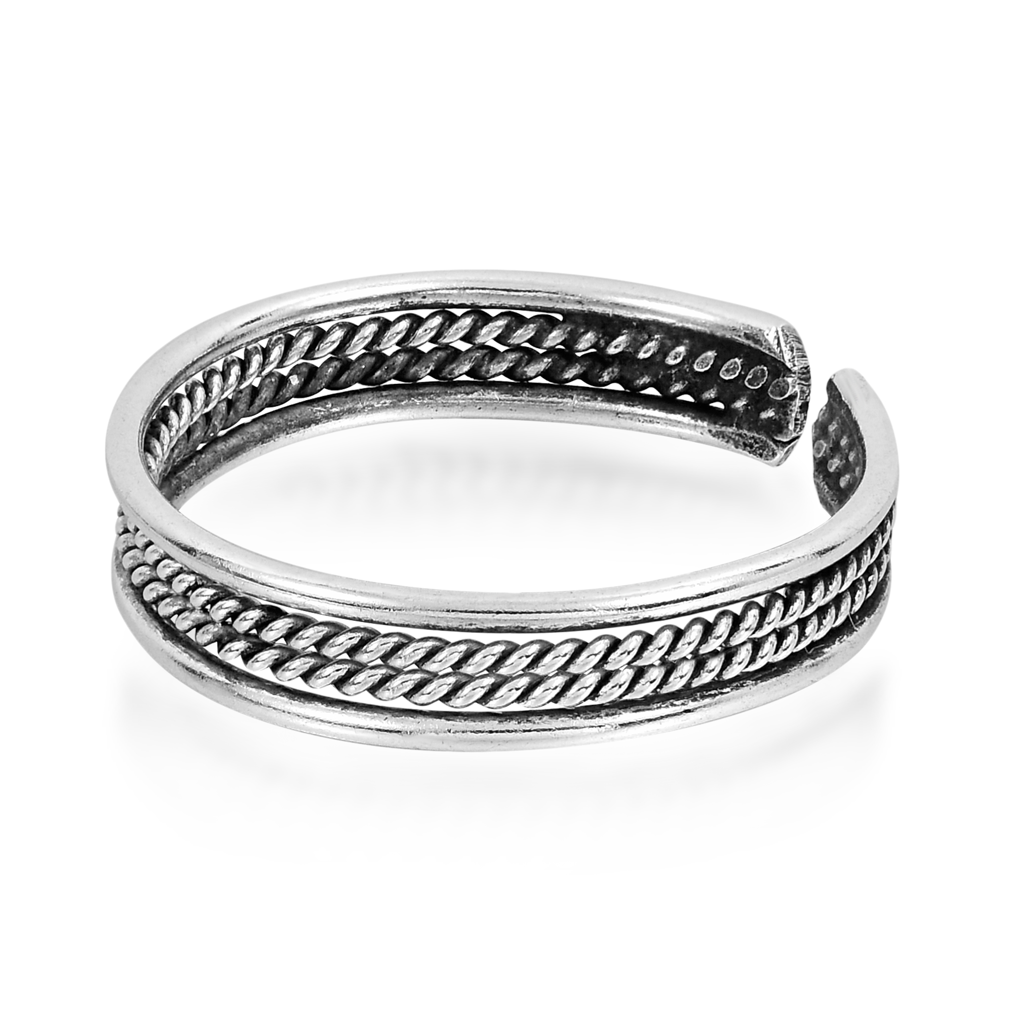 Bali Rope Design .925 Sterling Silver Toe Ring